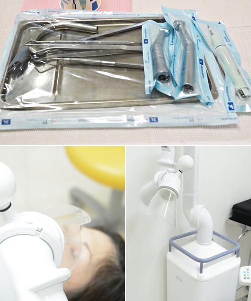 口腔外バキューム、個別の滅菌パック